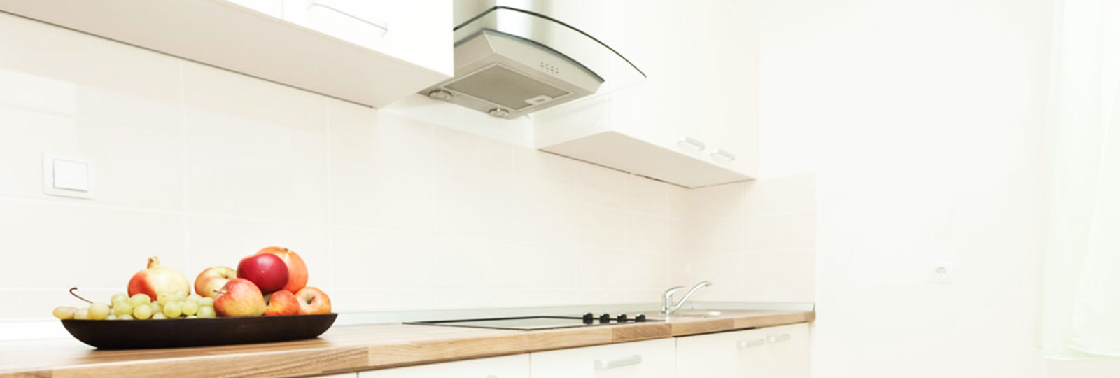 An image showing a domestic ventilation system that has been installed into a kitchen by Vent Logistics Limted.