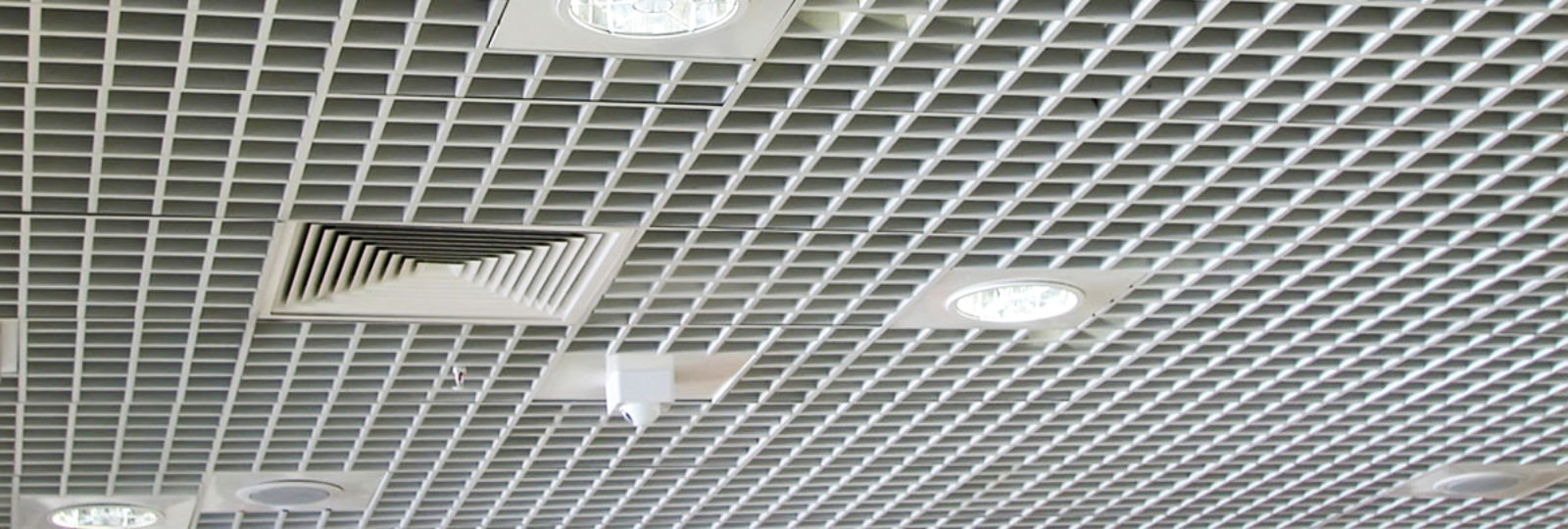 An image showing an office ventilation system on the ceiling.