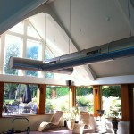An image sowing a completed swimming pool ventilation system by Vent Logistics
