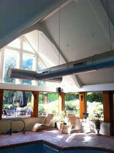 Completed swimming pool ventilation system